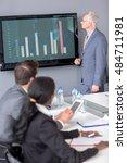 senior manager presenting chart ... | Shutterstock . vector #484711981