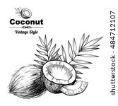vector background with  coconut ... | Shutterstock .eps vector #484712107