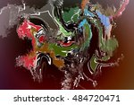 abstract digital painting for... | Shutterstock . vector #484720471