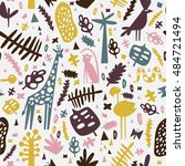 african seamless pattern with... | Shutterstock .eps vector #484721494