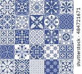 big vector set of tiles... | Shutterstock .eps vector #484721671