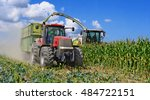 harvesting of corn silage in... | Shutterstock . vector #484722151