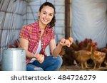 Happy Young Female Farmer...