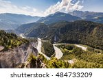 view of the rhine canyon in the ...   Shutterstock . vector #484733209
