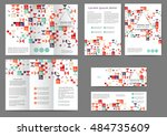 set of color abstract brochure... | Shutterstock .eps vector #484735609