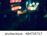 abstract circular bokeh... | Shutterstock . vector #484735717