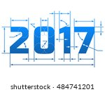 new year 2017 number with... | Shutterstock .eps vector #484741201