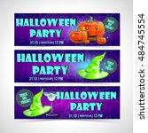 halloween banner set | Shutterstock .eps vector #484745554