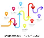 road way location infographic... | Shutterstock .eps vector #484748659