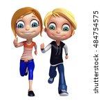 3d rendered illustration of kid ...   Shutterstock . vector #484754575