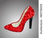 Vector Red Shoe