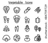 vegetable icon set | Shutterstock .eps vector #484759729