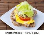 organic healthy egg sandwich on ... | Shutterstock . vector #48476182
