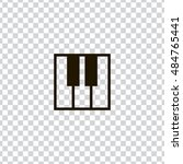 piano icon vector  clip art....