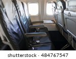 interior of airplane | Shutterstock . vector #484767547