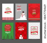 merry christmas  happy new year ... | Shutterstock .eps vector #484770469