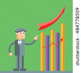 successful businessman standing ... | Shutterstock .eps vector #484778509