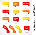 vector stickers  price tag ... | Shutterstock .eps vector #484784881