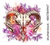 vector sketch illustration ... | Shutterstock .eps vector #484784947