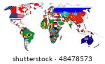 flags of the countries on the... | Shutterstock . vector #48478573