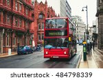 red double decker bus at the... | Shutterstock . vector #484798339