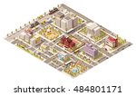 vector isometric low poly city... | Shutterstock .eps vector #484801171