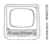 tv set   retro clipart... | Shutterstock .eps vector #484801735