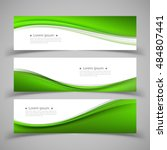 set of banner templates. modern ... | Shutterstock .eps vector #484807441