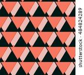 vector geometric coral dark... | Shutterstock .eps vector #484824289