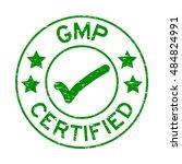 grunge green gmp  good... | Shutterstock .eps vector #484824991