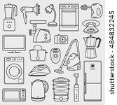 home appliances | Shutterstock .eps vector #484832245
