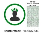 king rounded glyph bicolor icon ... | Shutterstock . vector #484832731