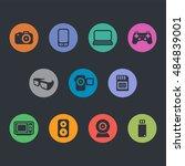 multimedia icons. basics | Shutterstock .eps vector #484839001