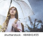 asian student waiting for the... | Shutterstock . vector #484841455