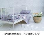 horizontal view of modern homey ... | Shutterstock . vector #484850479