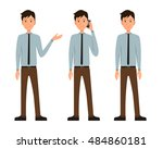 vector illustration of three... | Shutterstock .eps vector #484860181