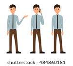 vector illustration of three... | Shutterstock .eps vector #484860181