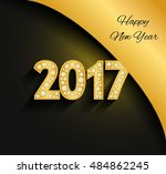 happy new year 2017. gold... | Shutterstock .eps vector #484862245
