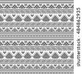 ethnic seamless monochrome... | Shutterstock .eps vector #484862935