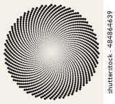 vector black and white spiral... | Shutterstock .eps vector #484864639