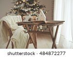 christmas or new year... | Shutterstock . vector #484872277