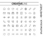 universal thin icons set for... | Shutterstock .eps vector #484876837