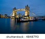 night shot of famous london... | Shutterstock . vector #4848793