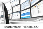 a network operations center or... | Shutterstock . vector #484883527