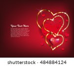 happy valentine's day greeting... | Shutterstock .eps vector #484884124