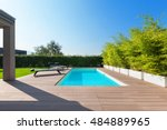 swimming pool design at modern... | Shutterstock . vector #484889965