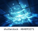 abstract technology background  ... | Shutterstock .eps vector #484893271