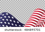 cropped waving american flag on ... | Shutterstock .eps vector #484895701