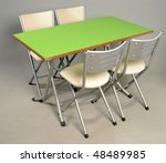 kitchen chairs and table | Shutterstock . vector #48489985