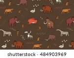 mammoth era pattern | Shutterstock .eps vector #484903969